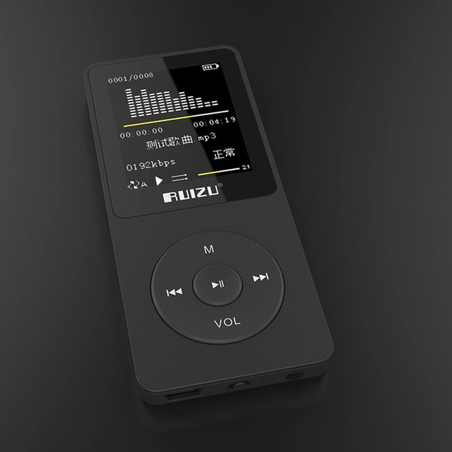 2016 100% original English version Ultrathin MP3 Player with 4GB storage and 1.8 Inch Screen can play 80h, Original RUIZU X02