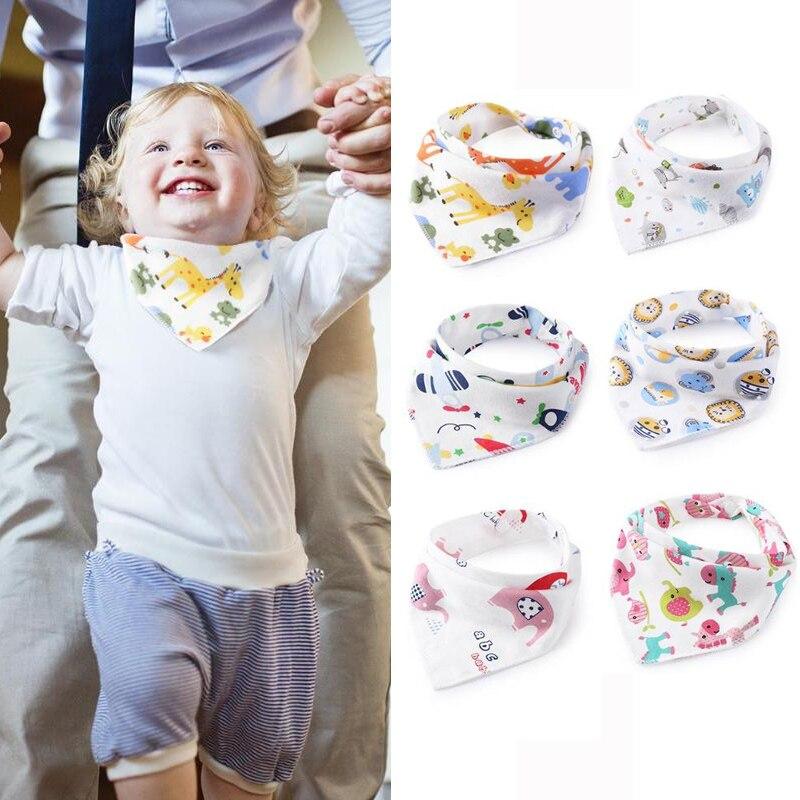 1 Pc Nette Baby Lätzchen Dreieck Handtuch Baumwolle Cartoon Neugeborenen Speichel Saugfähigen Tuch Anti-schmutzige Wasser Absorption Bib Baby PüNktliches Timing