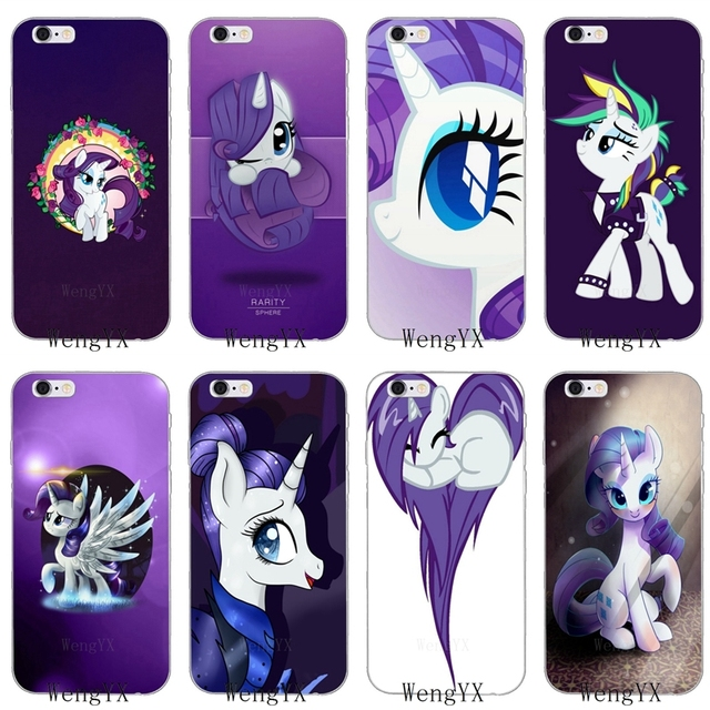 51fb8ab347 US $1.99 |lovely purple my little pony Rarity Slim silicone Soft phone case  For iPhone 4 4s 5 5s 5c SE 6 6s plus 7 7plus 8 8plus X-in Fitted Cases ...