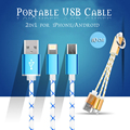 10 cm curto 8pin 2 em 1 portátil cabo micro usb carregador da sincronização de dados cabo para iphone 5 6 6 s 7 plus para samsung s4 s5 android telefone