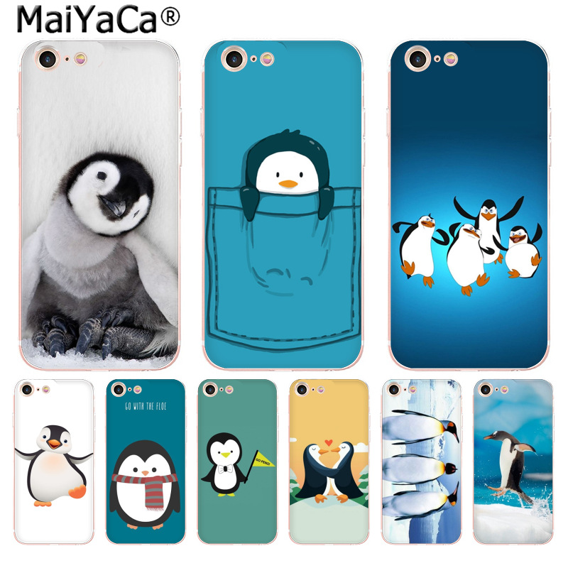 MaiYaCa Cute arctic animal penguin Cute Phone Accessories Case for iPho