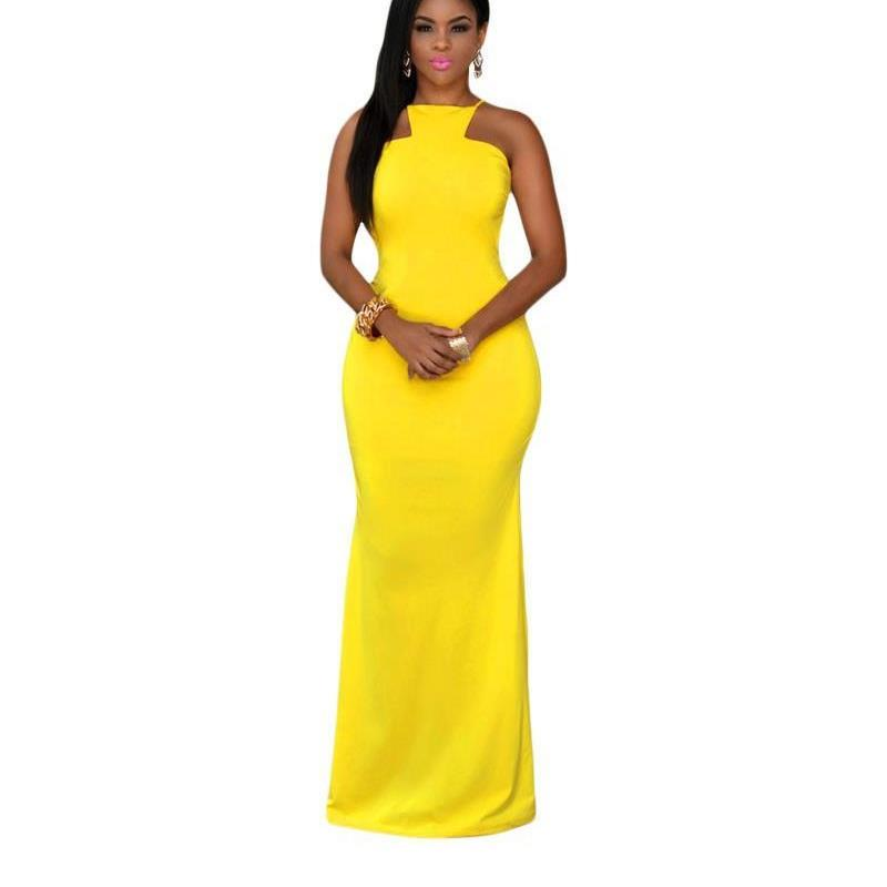 e9b303ca889 Summer 2017 Yellow Daring Backless Sexy long maxi dress Women formal  dresses for special occasion robe longue femme LC60465