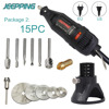 JEEPPING 220V 180W Dremel Style Electric Rotary Tool Variable Speed Mini Drill With Or Dremel Accessories