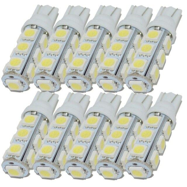 Safego 10 Chiếc T10 W5W 194 168 2825 LED Wedge Bóng Đèn Thay Thế 5050 13 SMD Tự Động Xe Hơi Ô Tô Trang Trí Nội Thất Đèn trắng Ấm 5000K 6000K