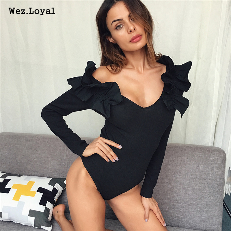 Women's Clothing Faithful Spring Sexy Backless Women Bodysuit Clubwear Tops One Shoulder Long Sleeve Skinny Rompers Ladies Jumpsuit Casual Party Playsuit