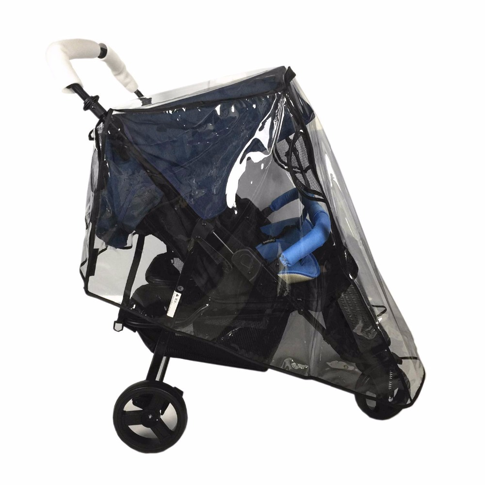 Weather Shield for double Stroller Rain Cover Universal Side By Side baby Pram Waterproof Stroller Accessories Wind Dust Shield in Strollers Accessories from Mother Kids