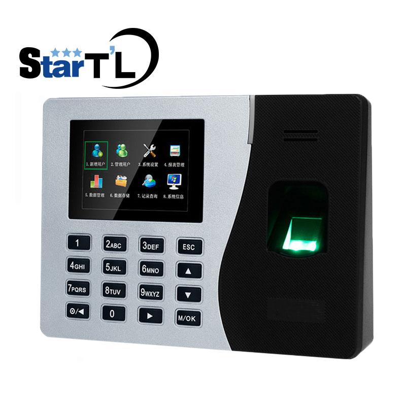 Biometric Fingerprint Time Attendance Time Recorder Fingerprint Time Clock With Built-in Battery K14