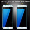 High quality TPU Full Cover clear  Front Protective Film Protection For Samsung Galaxy S7 Edge Screen Protector