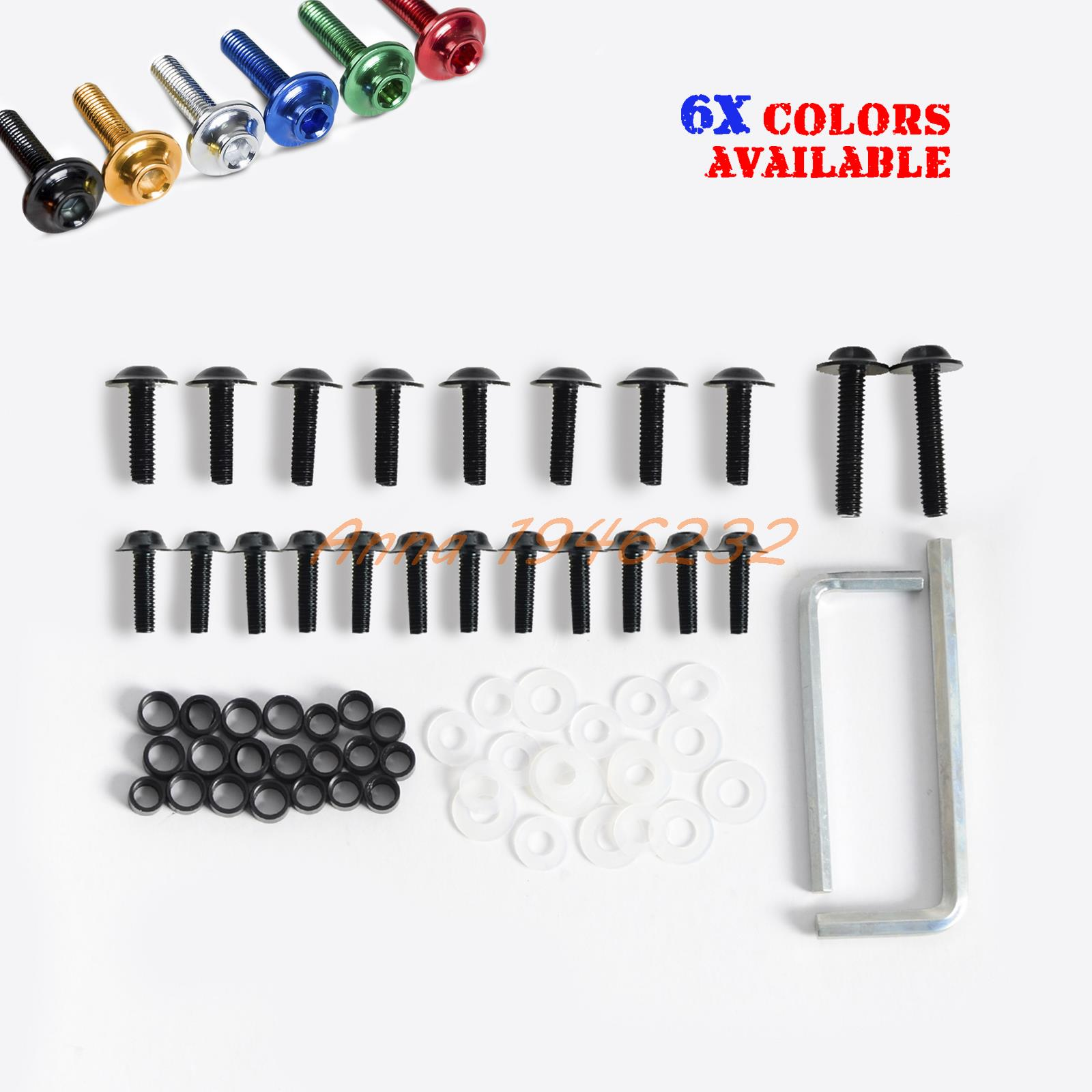 ヾ(^▽^)ノBlack Aluminum Fairing Bolts Kit For 2003-2006 Kawasaki ...