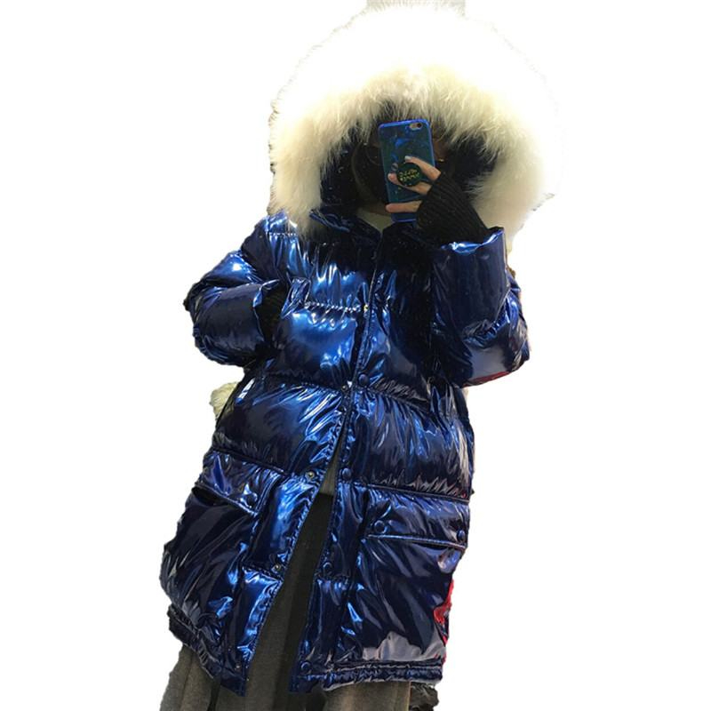 Winter Women White Duck   Down   Jacket New   Down     Coat   Large Real Raccoon Fur Collar Hooded Parka Thick Warm Snow Wear Outwear Y03