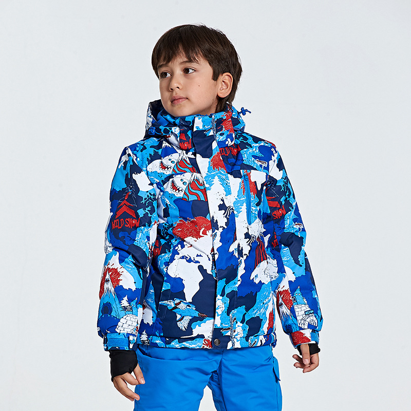 Nouveaux vestes de Ski pour enfants vestes d'hiver chaudes garçons filles sports de plein air imperméables Ski de neige snowboard vêtements pour enfant