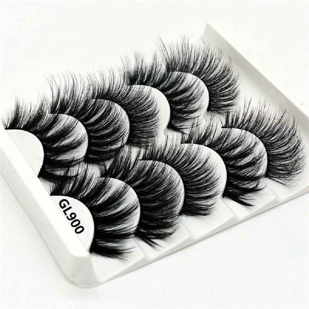 2019 New Arrival  5Pairs 3D Mink Hair False Eyelashes Natural/Thick Long Eye Lashes Wispy Makeup Beauty Extension Tools