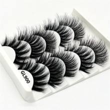 2019 New Arrival 5Pairs 3D Mink Hair False Eyelashes Natural/Thick Long Eye Lashes Wispy Makeup Beauty Extension Tools(China)