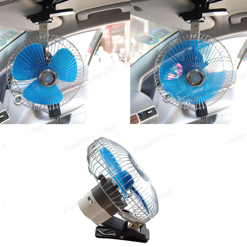 Mini Electric Oscillating Car Fan Low Noise Summer Air