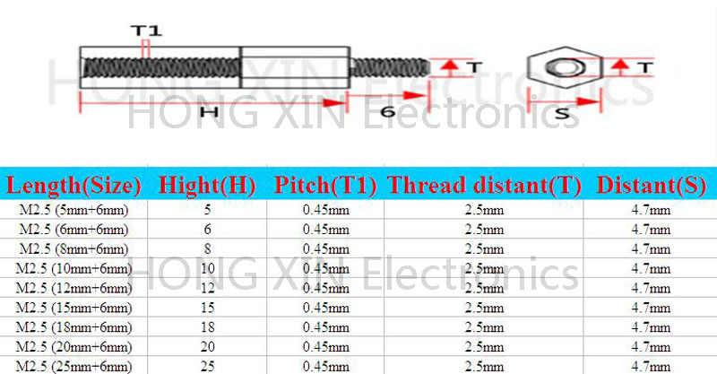M2.5 * 5/6/8/10/12/15/18/20/25 + 6 1 cái Trắng nylon Standoff Spacer Tiêu Chuẩn M2.5 Nam-Nữ 5-25 mét Standoff Kit Sửa Chữa phần