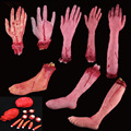 Halloween Scary Cut Off Bloody Fake Latex Arm Hand Foot Heart Eyeball Brain Finger Horror Props Bloody Haunted  Party TY0085