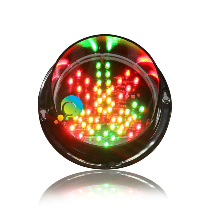 DC12V Customized 125mm Red Cross Green Arrow LED Traffic Signal Light Module For School Teaching