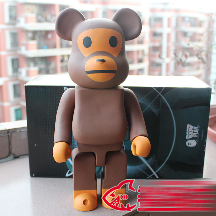 400% bearbrick Bear@brick BABY MILO BAPE Replica Art Figure as a gift for boyfriends ,girlfriends and students new violence bear momo bearbrick gloomy bear popobe spiderman vinyl toys 10 inch 25cm