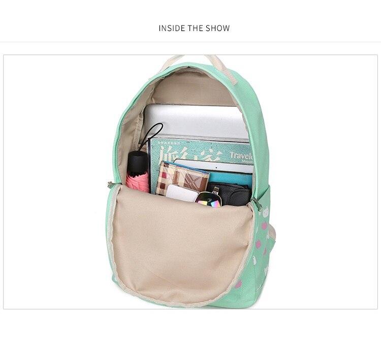 Cat Print Backpack-Shoulder Bag-Pouch