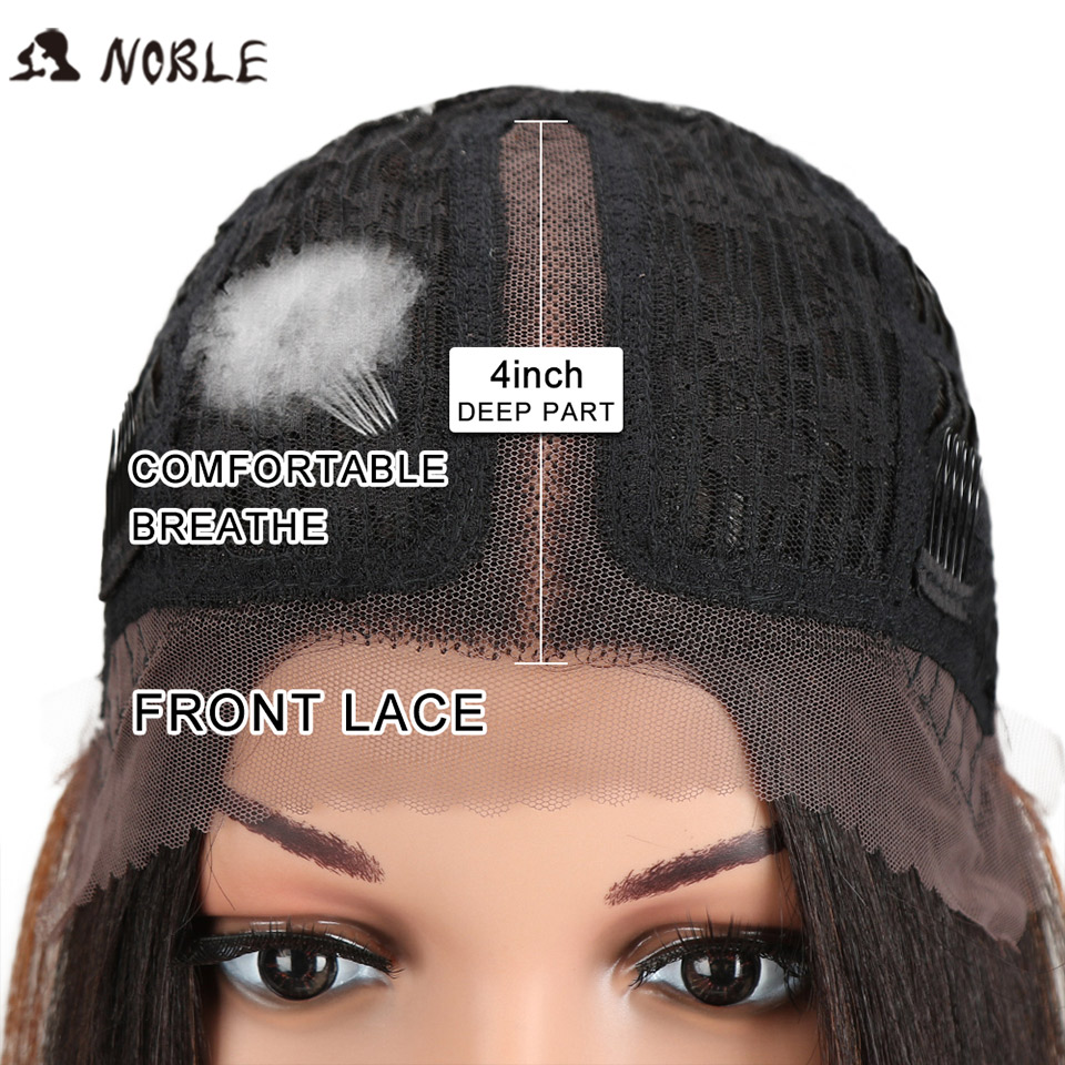 Noble Hair Synthetic Lace Front Wig Straight Hair 14 Inch Lace Wigs For Black Women Ombre
