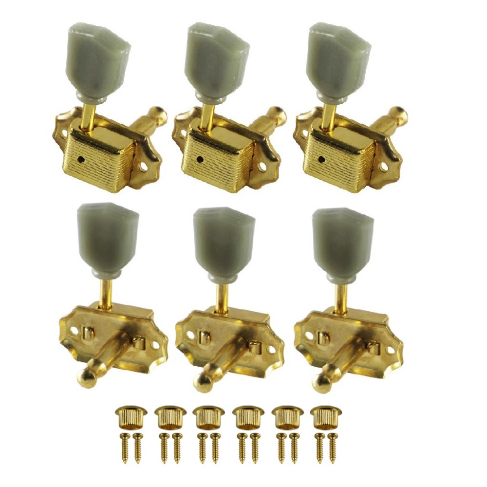 new 6pcs vintage style acoustic electric guitar string tuning keys pegs machine heads gold 3l3r. Black Bedroom Furniture Sets. Home Design Ideas