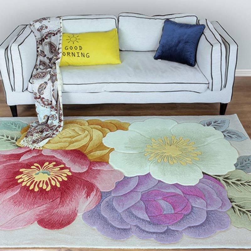 Japon laine Carepts tapis chevet sculpté tapis pour salon couloir chambre salon couloir marque antidérapant 100% laine tapis