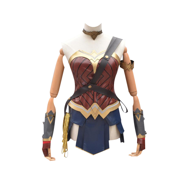 Halloween Cosplay Wonder Woman Batman vs Superman Diana Nine Suits Ladies And Women Warrior Costume Party Game High Quality Suit