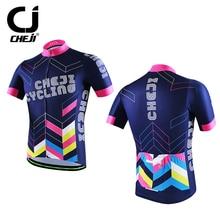 CHEJI Cycling Jersey Reflective Men's Bike MTB Shirts Mountain Bike Sports Wear Top Purple Bicycle Jacket S-XXXL