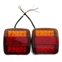 2Pcs DC 12V LEDS Car Truck Rear Tail Light Warning Lights Rear Lamps Waterproof Tailights Rear