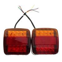 2Pcs DC 12V LEDS Car Truck Rear Tail Light Warning Lights Rear Lamps Waterproof Tailights Rear