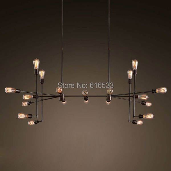 Vintage Nostalgic Industrial Antique Lustre Series Loft American Country Style Large Edison Pendant Lamps Home Decor Lighting
