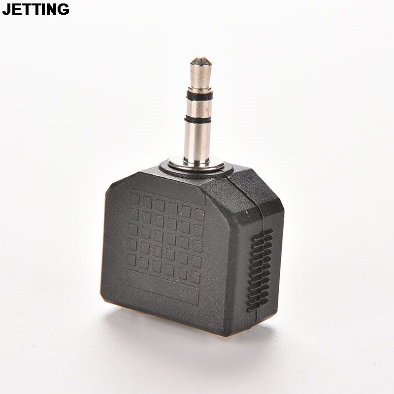 JETTING 3.5mm Stereo Y Splitter Audio Adapter - 1/8 Male Plug to 2 Dual Female Jacks Drop Shipping foonbe y type 3 5mm headphone male to dual female audio cables headphone splitter adapter plug stereo earphone splitters