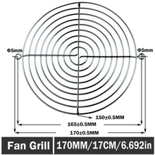 20PCS LOT Gdstime 170mm Metal Fan Guard Protective Grill 17cm for PC Ventilator цена 2017