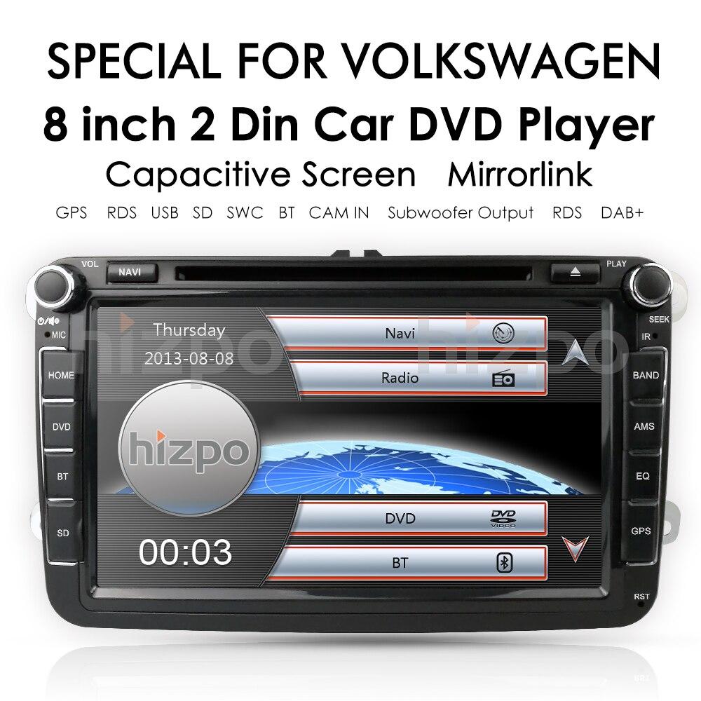 Flash Deal 2Din 8Inch Car DVD Player For VW POLO PASSAT Golf Skoda Octavia SEAT LEON DAB SWC Radio GPS Navigation 1080P FM Free Camera Maps 3