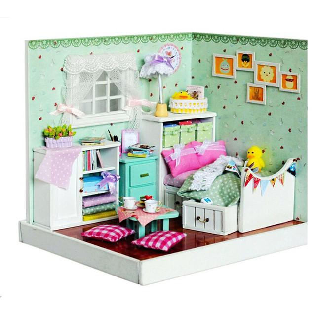 Engraçado DIY Casa De Boneca de Madeira Montagem de Brinquedos para o Presente das Crianças, casa de Bonecas em miniatura-O Maravilhoso Feiticeiro de Oz