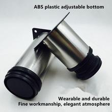 5 CM 30 CM meble regulowane nóżki do szafki stół ze stali nierdzewnej Sofa stopka metalowa ze śrubkami w domu poprawy sprzętu