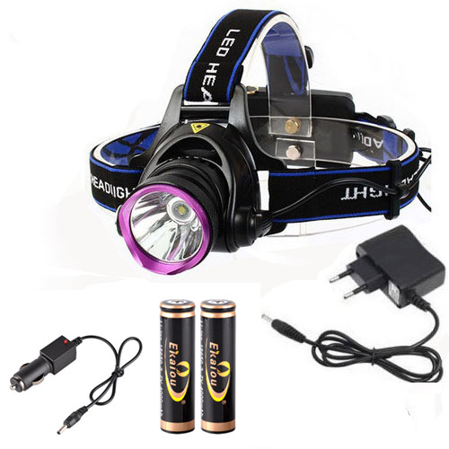 6000 Lumens CREE XM-L XML T6 LED Headlamp Headlight Flashlight Head Lamp Light + 2*18650 battery + charger + Car Charger litwod z302309 usb 9 cree led led headlamp headlight head flashlight torch cree xm l t6 head lamp rechargeable for 18650 battery
