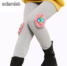 Cyjmydch Winter Thick Girls Pant Warm Girls Leggings With Flower Baby Pants For Girls Children Pants Trousers Kids Leggings