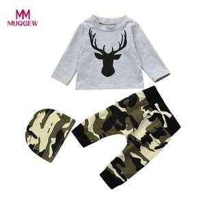 MUQGEW New year Newborn Infant Baby Boy 3Pcs Clothes Set dd67b43ba