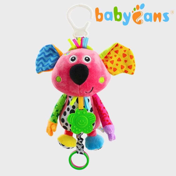 Детская кроватка погремушка в коляску игрушка плюшевый коала слон Новорожденный ребенок висячая погремушка кольцо колокольчик мягкий детский манеж; кроватка коляска Рождественский подарок