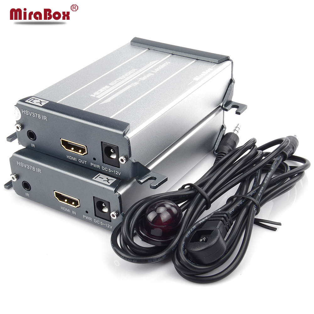 Mirabox HDMI IR Extender Over UTP Cat5/Cat5e/Cat6 Rj45 Ethernet 1080P Up to 100M HDMI Transmitter Receiver for HDTV DVD Player 80 channels hdmi to dvb t modulator hdmi extender over coaxial