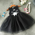 Mother & kids clothing for girls black cat catimini dress tutu summer for kids kinder toddler small little child costumes cute