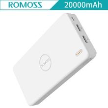 ROMOSS PB20 20000mAh External Battery Pack Dual USB Li-polymer Battery Power Bank Portable Quick Charge for iPhone Xiaomi