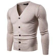 Sweater Men's Clothing Casual Multicolor Cardigan Sweater V-neck Fashion Knitwear Men's Sweater M-2XL-YM011 недорого
