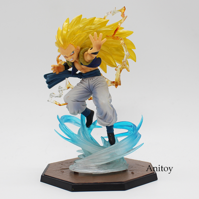 Anime Dragon Ball Figuarts Zero Super Saiyan 3 Gotenks PVC Action Figure Collectible Model Toy 16cm KT1904 anime dragon ball super saiyan 3 son gokou pvc action figure collectible model toy 18cm kt2841