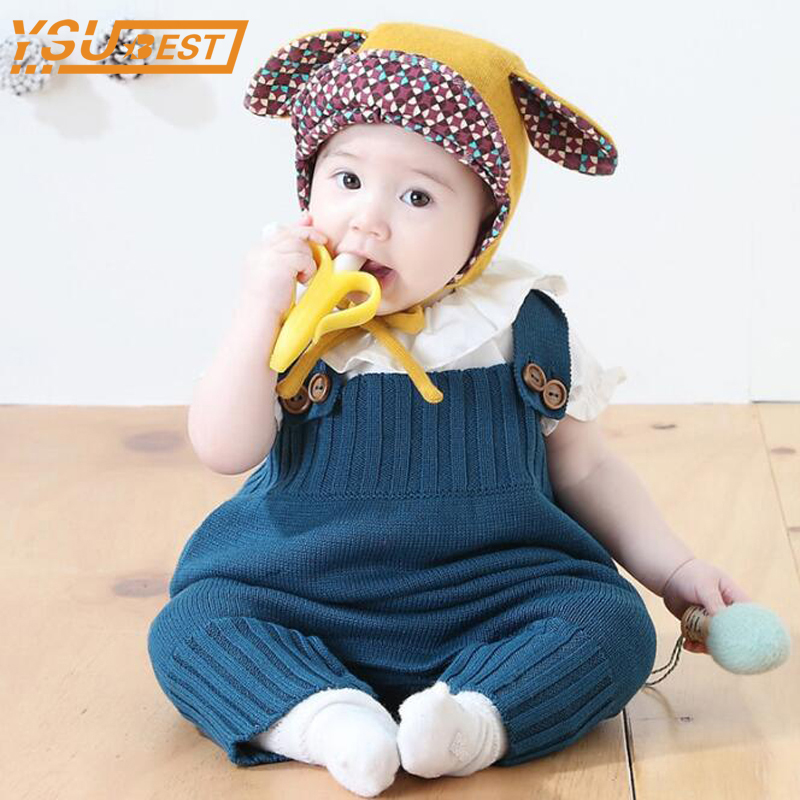 New 2017 Baby Girls Knitting Rompers Cute Overalls Newborn Baby Clothes Spring Autumn Baby Girl Boy Sleeveless Romper Jumpsuit полка для обуви мастер лана 2 пол 2 1с 1п орех итальянский мст пол 1с 1п ои 16