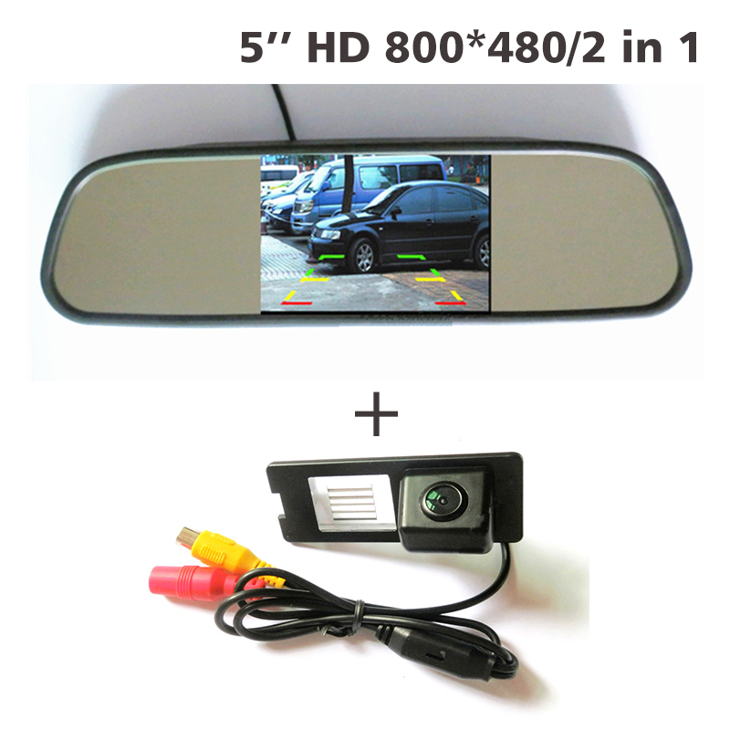 Free shipping for Renault Fluence Duster car backup rear view parking camera CCD HD +5 inch car mirror monitor TFT LCD 800*480 sinairyu hd mirror monitor 800 480 high resolution tft lcd rear view mirror screen display for backup camera two video inputs