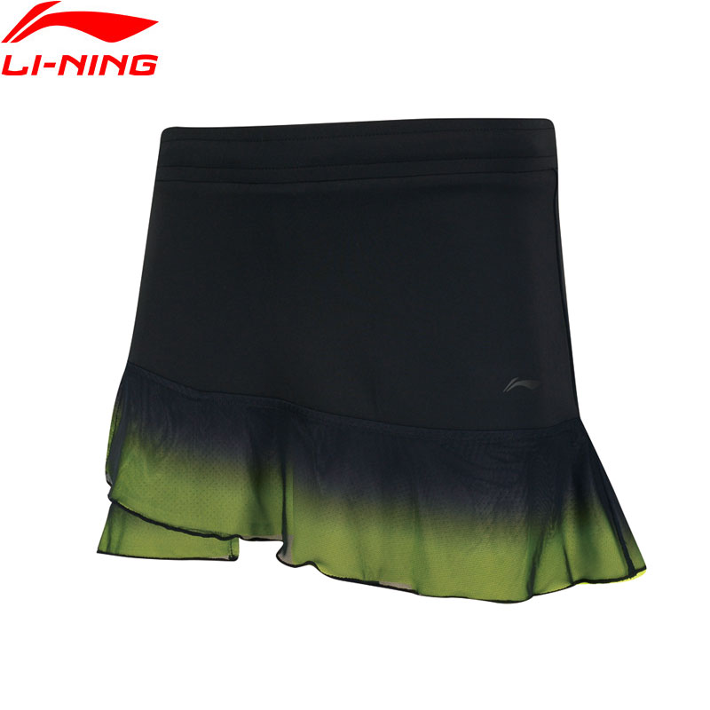 Li Ning Women Badminton Competition Skirt Shorts Regular Fit 87 Polyester 13 Spandex LiNing Sports Skirts