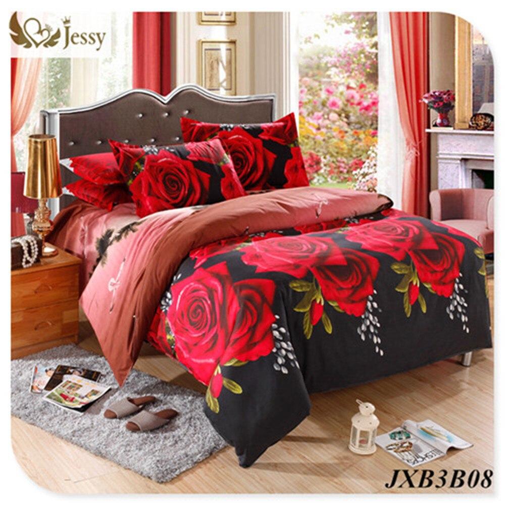 Bed sheet set with quilt - New Design 3d Bedding Set Tiger Rose Printed Bedding Animal Print Bedspread Bedclothes King Duvet Cover