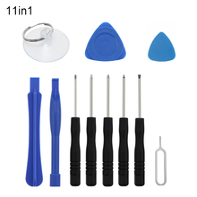UANME 11PCS Cell Phone Opening Reapri Tools For iPhone 4 4S 5 5S 6 6S Screwdriver Set/Plastic Spudger/Open Pick/Suction Cup Kit 21pcs set mobile phone repair tools kit spudger pry opening tool screwdriver set for iphone samsung phone hand tools set